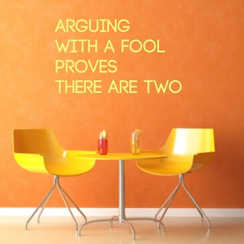 arguing with fool 1758 naklejka