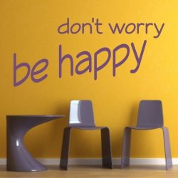 don't worry be happy 1735 naklejka