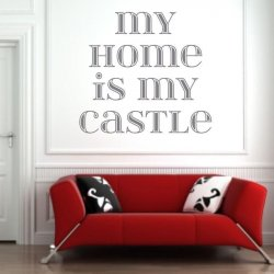 my home is my castle 1725 szablon malarski