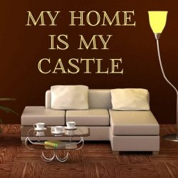 my home is my castle 1727 szablon malarski