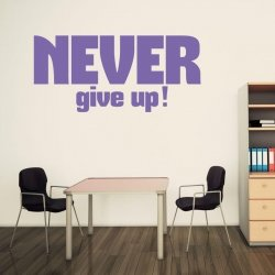 never give up 1716 naklejka