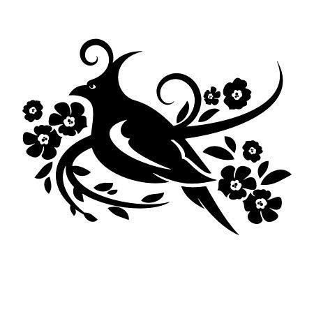 Ptak W Kwiatach 1246 Szablon Malarski Deco Strefa