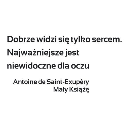 Szablon Malarski Cytat Z Książki Mały Książę 19sm70