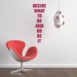 szablon malarski decide what to be an go be it 19SM51