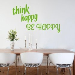 think happy be happy 1744 naklejka